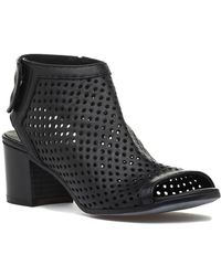 275 Central 794 Perforated Bootie Black Leather