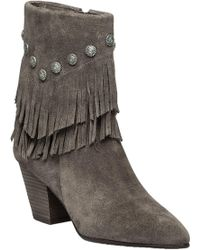 Belle By Sigerson Morrison - Yardley Vigona Fringed Suede Ankle Boots - Lyst