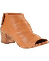 275 Central - Block Heel Bootie Cuoio Leather - Lyst