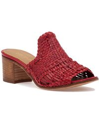275 Central - 1722 Sandal Red Leather - Lyst