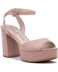 aeeafde17120 Chinese Laundry - Theresa Sandal Pink Microsuede - Lyst