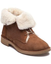 Ugg | Quincy Chestnut Suede Lace Up Boot | Lyst