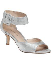 Pelle Moda - Berlin Sandal Silver Suede - Lyst
