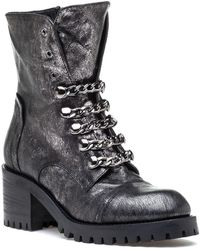 275 Central - 4319 Stainless Steel Leather Boot - Lyst