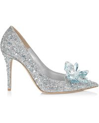 Jimmy Choo - Avril Crystal Covered Pointy Toe Pumps - Lyst
