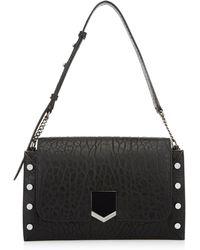 1c1128169f1 Lyst - Jimmy Choo Lockett Leather Shoulder Bag in Black