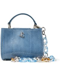 Jimmy Choo Varenne Top Handle Mini - Blau