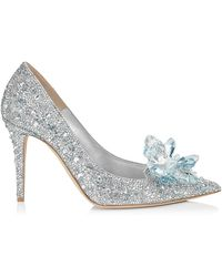 Jimmy Choo - Alia Crystal Covered Pointy Toe Pumps - Lyst