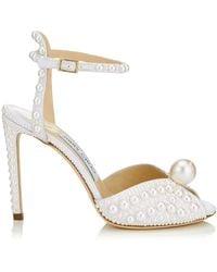 Jimmy Choo Sacora 85 Lace Sandals - White