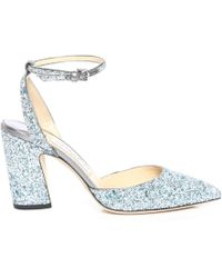 Jimmy Choo - Micky 85 Escarpins Bout Pointu En toffe Paillettes paisses Mix Denim - Lyst