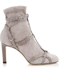 Jimmy Choo - Brianna 85 Leather Boots - Lyst