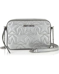 Jimmy Choo - Haya Small Day Bag In Anthracite - Lyst