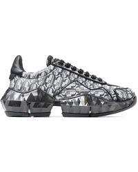 Jimmy Choo Diamond Logo Sneakers - Black