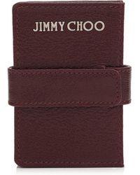 Jimmy Choo - Myla Leather Concertina Card Holder - Lyst