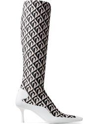 Jimmy Choo Jc X Ms Sock Calf Boot - ブラック