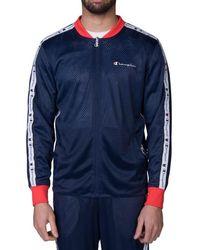Champion Reversible Mesh Jacket - Blue