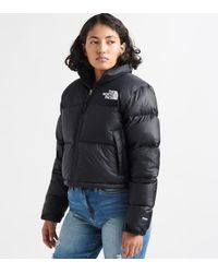 The North Face Goose Cropped Nuptse Jacket in BlackWhite