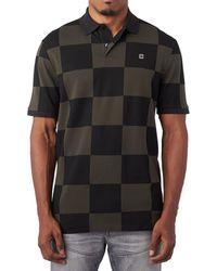 G-Star RAW - Checkerboard Polo Shirt In Black - Lyst
