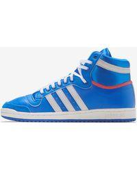 adidas Top Ten Hi Shoes - Blue