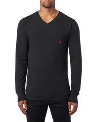 daa6d619 Polo Ralph Lauren Waffle-knit Crewneck Thermal in White for Men - Lyst