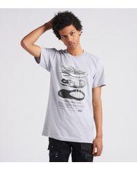b093ce49 Nike Shoe Box Logo T-shirt In Grey 684137-051 in Gray for Men - Lyst