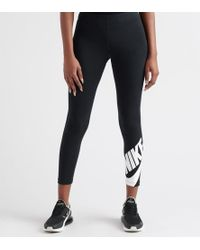 0965721cc4d Nike All Over Print Futura Leggings in Black - Lyst