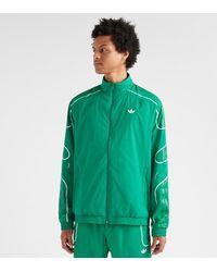 4be96b99f3d53 Flame Strike Track Jacket - Green
