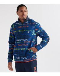 Nautica - Classic Fit Half-zip Placket Printed Pullover - Lyst