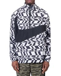 Nike - Nike Aop Swoosh Woven Halfzip Jacket - Lyst
