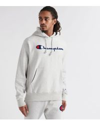 Champion Reverse Weave Pullover Hoodie - Gray