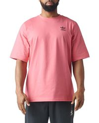 12b8cb4077 adidas Warped Stripes Backprint Tee in Pink for Men - Lyst