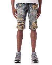 Heritage - Rips N Plain Rpr Denim Shorts - Lyst
