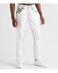 Rock Revival Rogers Taper Jeans - White