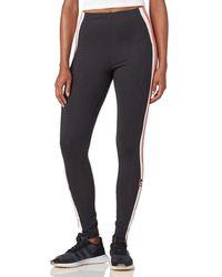711bbe53b33d8 adidas Originals Originals Adibreak Leggings In Dark Gray in Gray - Lyst