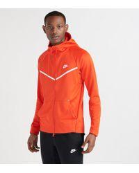 49a1cedef0 Lyst - Nike Tech Fleece Windrunner Full Zip Hoodie in Blue for Men