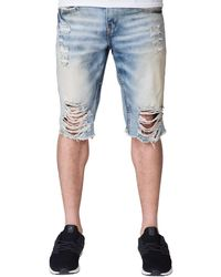 Heritage - Denim Rip Shorts - Lyst