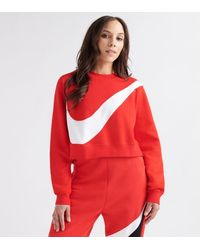 Nike Nsw Swoosh Crew Fleece - Red