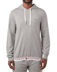 046c5d5a Tommy Hilfiger Authentic Full Zip Hoodie Side Logo Taping In Gray ...