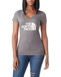 b99452c56a Lyst - The North Face Half Dome Scoop Neck Short Sleeve T-shirt in Gray