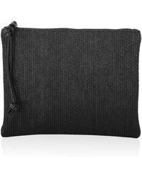 Joanna Maxham Highline Clutch Intreccio Fabric Black