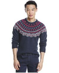 Brooks brothers red fleece Nordic Jacquard Fair Isle Sweater for ...