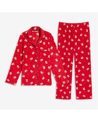 Joe Fresh Women+ 2 Piece Fleece Sleep Set - Red