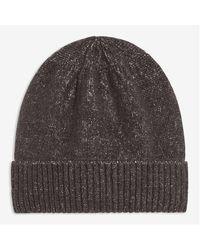 Joe Fresh Soft Flecked Yarn Beanie - Gray