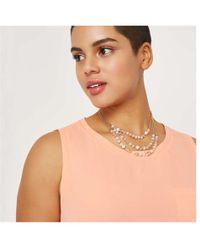 Joe Fresh Multi-row Layered Necklace - Pink