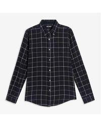 Joe Fresh Check Button-down Flannel Shirt - Black