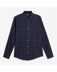 Joe Fresh Check Button-down Flannel Shirt - Blue