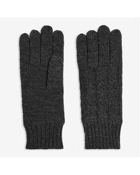 Joe Fresh Cable Knit Gloves - Gray