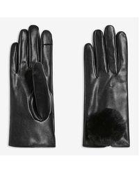 Joe Fresh Faux Leather Gloves - Black