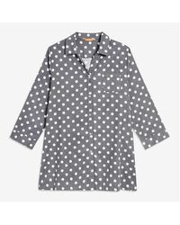 Joe Fresh Women+ Dot Flannel Nightshirt - Gray