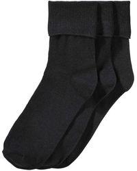 Joe Fresh - 3 Pack Cuffed Socks - Lyst